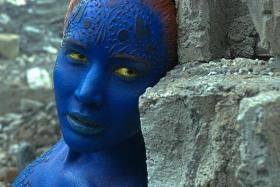 TRANSFORMED: Lawrence says taking off the Mystique (above) costume is worse than putting it on.