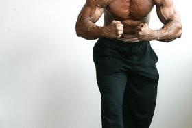 STAGES: Rano Izhar Rahmat at the peak of his bodybuilding career