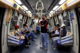 SHUNNED: Mr Jasvir Singh, who takes the MRT on Sundays, says other passengers sometimes move away from him.