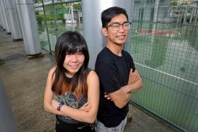 THEY DID IT: Ms Irina Tjahjana and Mr Fang Yuan, two of the three members of the Singapore team who took part in the Red Bull challenge.