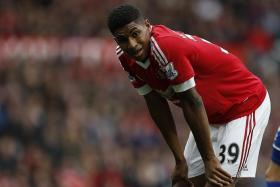 BIG BREAK: Manchester United's teenage forward Marcus Rashford (above) has been called up at the expense of veterans such as Andy Carroll and Jermain Defoe.