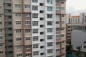 TRAGEDY: Benjamin Lim's body was found at the bottom of this block of flats in Yishun on Jan 26.