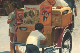 HISTORY: The painting Portable Cinema (above) was the inspiration for Eric Khoo's short film of the same name which will be shown in the omnibus film Art Through Our Eyes.