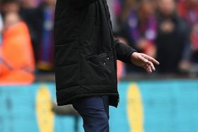 """""""It's nothing to do with this era. There's no revenge of 'putting it right'. It's about this team getting to the cup final, and trying to win."""" - Palace manager Alan Pardew (above), who was a defender on the 1990 side that lost to United in their last and only FA Cup final appearance"""