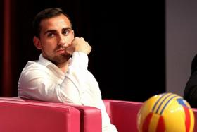 """""""When life is not fair, and there's suffering, or bad moments, you just have to wait, even if you cry... You just try to improve, to be a better person — you use that sad moment, use that sad moment to better enjoy life (later)."""" - Valencia's Spanish striker Paco Alcacer (above), speaking through a translator at the Singapore Olympic Foundation-Peter Lim Scholarship award ceremony. He was referring to his father's death from a heart attack, just minutes after Alcacer had scored in Valencia's 3-0 win over Roma in 2011"""