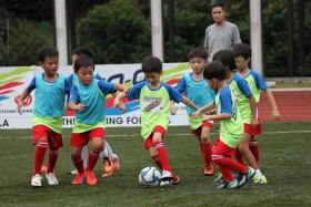 KIDDY KICKABOUT: A total of 60 teams played five seven-a-side games of 10 minutes each.