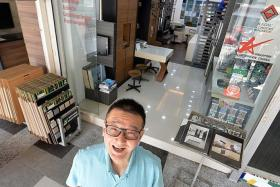 UPGRADED: Mr Chen Wing Fatt Michael, owner of Hwa Li Design, has been renting his shop in Jurong West for about 18 years.