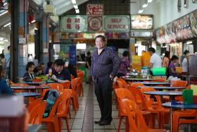 STEADY: Mr Hoon Thing Keong, owner of coffee shop chain Kim San Leng, does not intend to increase rent prices in the coming years.