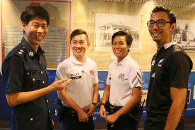 TEAMWORK: (From left) Inspector Kevin Lee, Sergeant Peh Chi Siong, Staff Sergeant Rosminah Samsuri and Sergeant Muhd Safuan Sahul Hameed tracked down the autistic teen and helped his family.