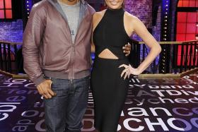 GAME ON: Host LL Cool J and commentator Chrissy Teigen keep the action going on Lip Sync Battle.