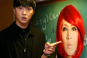 MALE FEMALE: Xu plays a character who crossdresses as a female in his first movie, Young & Fabulous.