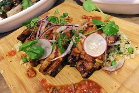 The Grilled Iberico Slices ($16) is jowl cooked for 12 hours, marinated with maple and soya sauce.