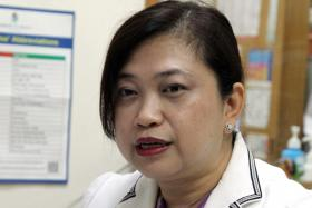 CONCERNED: Dr Angela Cheong, a GP at Cheong Family Clinic in Owen Road.
