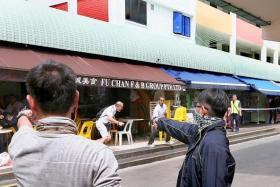 PREPAREDNESS: The terrorist attack simulation at Chong Pang lasted 15 minutes.