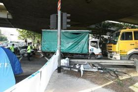 CRASH: Lorry driver Selvarasu Baskar was jailed for causing the accident that killed Mr Wong For Choon.