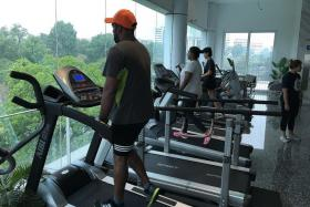 SLOWLY DOES IT: Mr Justin David (above) makes sure he gets plenty of rest after each training session.