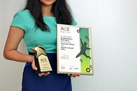 AWARD-WINNER: Nicole Marlene Ruth Nonis, 16, was diagnosed with ADHD when she was in Primary 3.