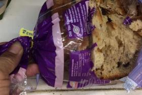 A Facebook photo of a loaf of bread that has been gnawed at, allegedly by a rat