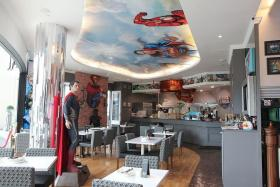 STRONG LINE-UP: With more than 100 characters to work with, the DC Comics Super Heroes Cafe is constantly rolling out new menus inspired by the superheroes.