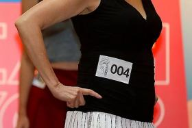 CONFIDENT: Oldest contestant Le Minh Mueller (above), 65, said she goes to the gym six days a week to keep fit.