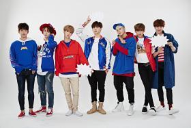 Korean pop septet GOT7's comprise (from left) Junior, Youngjae, Mark, JB, Jackson, BamBam and Yugyeom.