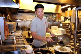 HUNGRY: Yeo in the Tenderfresh Classic kitchen, which he is a co-owner of.