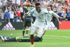 SAVIOUR: Daniel Sturridge's (above) late winner giving England manager Roy Hodgson and their fans something to celebrate.