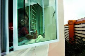 DEDICATED: Mr Lee Koon Peng will be happy only if there are zero cases of fallen windows.