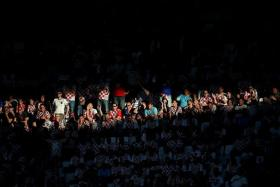 TIME TO SEE THE LIGHT: After their win over European champions Spain, Croatia's fans (above) must be hopeful of a bright finish by their in-form team.