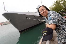 VIGILANT: ME3 Lim Jia Yee has taken part in international counter-piracy efforts, including a three-month stint in the Gulf of Aden.