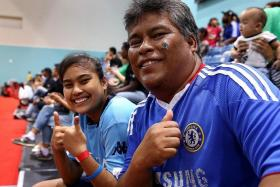SCORE: Sitinormilah and her father, Mr Kamaruzaman.