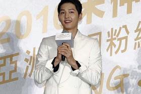 HEART-THROB: Descendants Of The Sun star Song Joong Ki.