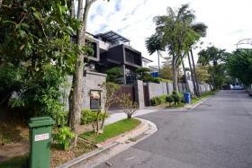 HOME: (Above) The home of Ms Adeline Yeo.