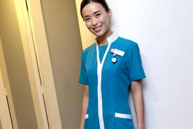 Actress Rebecca Lim plays a nurse for the fourth time in You Can Be An Angel 2.