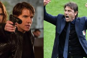 Tom Cruise and Antonio Conte? Or is it Antonio Conte and Tom Cruise? Neil Humphreys isn't sure...