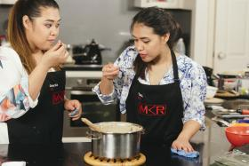 SIBLING BICKERING: Sisters Tasia (right) and Gracia (left) have made it to the top 13 on season seven of My Kitchen Rules. The pair say their 'kitchen fighting' is their way of communicating.