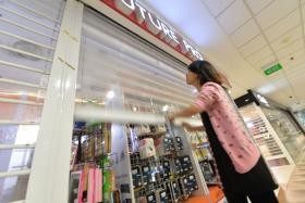 GOOD BYE: Funan DigiaLife Mall closed its doors on Thursday evening.