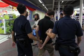 THIEF: A 36-year-old man arrested for shop theft at an Hougang supermarket in 2013.