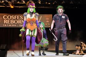JOKERS WILD: (From left) Cosplayer Yugana Senshi (not her real name), her six-year-old daughter Yugana Mini-me (not her real name), and their friend Fredrick Paras came dressed as a Joker family.