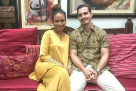 HAPPY: Nadiah M. Din with her fiance Bilal Jeanpierre.