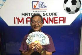 Taxi driver Wari Ismail, 58, has won cash prizes in the TNP Match & Score contest on four separate occasions.