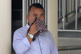 IN COURT: Mr Roslan Zainal took the stand to testify in cabby Chan Chuan Heng's trial.