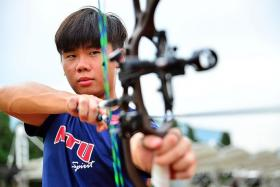 BEEN THERE, DONE THAT: National archer Ang Han Teng believes the experience garnered at last year's SEA Games will help him at the Asean University Games, which start on Sunday.