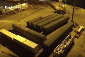 CRACKED: Online news portal FactWire said this photo is of the defective trains being transported to China.