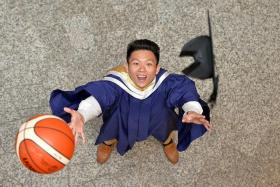 ACHIEVER: Mr Lim Shengyu, 25, managed to balance studies with his passion for basketball.