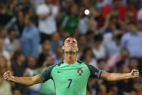 SECOND CHANCE: Cristiano Ronaldo will be leading Portugal into their second European Championship final on Monday morning.