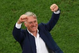 DIDIER DID IT: France coach Didier Deschamps' tactical organisation helps him trump Germany.