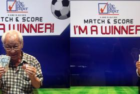 YESTERDAY'S WINNERS: Mr Lee Ah Choy (left) and Mr Ronney Poh Kow Yuen (right).