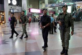 PREPARED: All passengers and bags going to KLIA from KL Sentral (above) will be subjected to security checks.