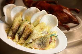 DUCK DELIGHTS: The Peking Duck Platter.